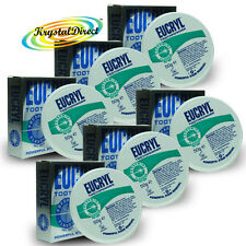 6x Eucryl Freshmint Flavour Teeth Stain Removing Polishing Tooth Powder 50g