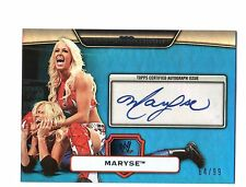 WWE Maryse 2010 Topps Platinum BLUE Authentic Autograph Card SN 64 of 99