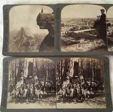 Antique 1901 Stereoviews Photo Cholula Mexico Great Tree Calvary Yosemite Valley