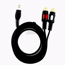 6ft 3.5mm stereo male Plug to 2 RCA Female Jack Converter Adaptor Audio Y Cable