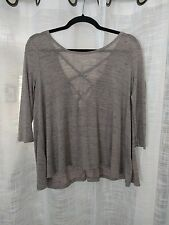 Free People Pale Pink Open Back Top-Sz S No Tags