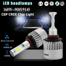 160W 16000LM CREE LED Headlight Bulbs 9005 HB3 H10 9145 9140 COB Car Kit 6000K