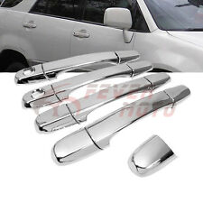 Triple Chrome Side Door Handle Cover Cap Keyhole For LEXUS IS200 IS300 RX300 FM