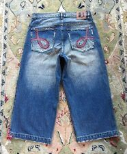 Rare Vintage Dr Denim Mens Capri Jeans Factory Distressed 100% Cott Med Wash 32