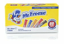 Monsieur freeze ice pop Lollies 80 x 90ml uk shipping 4 saveurs long daté.