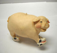 CHRISTMAS PIG CERAMIC ORNAMENT DECORATION in original sneakers