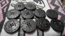 10 BUTTONS 13 STAR WWI US Navy AIB PEACOAT Black Anchor & Rope LARGE 1 3/8 IN