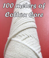 100 metres of Braided COTTON CORE, Candle making WICK. Stoppini per Candele