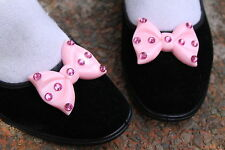PINK STUDDED BOW BLACK ALICE SHOES FLATS -cosplay GOTHIC LOLITA ALT KAWAII CUTE