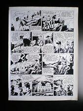 RARE Planche originale LUC HARDY Le maitre du Soleil Artima 1956 N°6