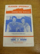 09/07/1971 Speedway Programme: Glasgow v Reading (results/riders/positions all h