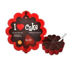 I Love Cake Baking Mold Pan Silicone Heart Shaped Slices Dessert Gift Valentines