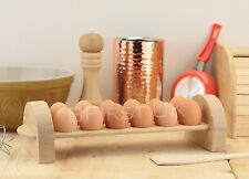 Wooden 12 Egg Station Cupboard Kitchen Storage Wood Tray Rack Holder Organiser