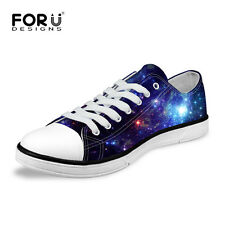 Galaxy Space Mens Casual Low Top Canvas Shoes Comfy Trainers Walking Sneakers