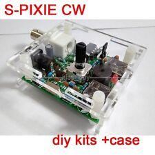 S-PIXIE CW QRP Shortwave Ham Amateur Radio Transceiver 7.023MHz Diy Kits + Case
