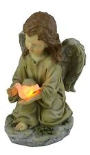 Small Girls Glowing Cute Angel Garden Statue Decorations Solar Dove Glows NEW