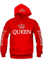 KING AND QUEEN HOODIES VALENTINE NEW MULTI COLORS MATCHING CUTE LOVE COUPLES