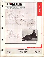 1987 POLARIS SNOWMOBILE INDY SPORT & TRAIL  P/N 9911270  PARTS MANUAL (222)