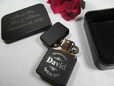 Personalized Engraved Lighter with Gift Tin Groomsman Best Man Wedding Gift