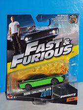 Mattel 1:55 2017 Fast & Furious Series #5 2011 Dodge Challenger SRT8 Green