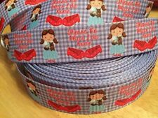 """�� Dorothy Wizard Of Oz No Place Like Home1"""" 25mm Grosgrain Ribbon 1 meter ��"""