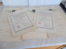 Collection of 5 Certificates That belonged To Molly Wright From The 1930's