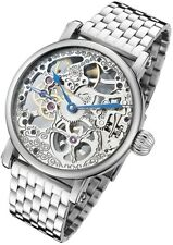 Rougois Mechanical Skeleton Steel Watch