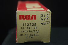 One NOS NIB RCA  Multi Section Audio Twist Lock Electrolytic Can Capacitor