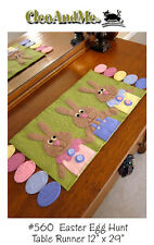 EASTER EGG HUNT WOOL FELT RUNNER PATTERN