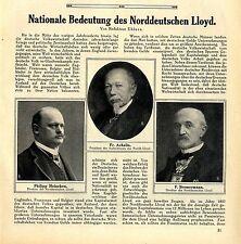 Die Nationale Bedeutung des Nordeutschen Lloyd Philipp Heineken Fr. Achelis 1912