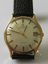 .OMEGA 1970'S 9CT YELLOW GOLD DE VILLE WATCH.