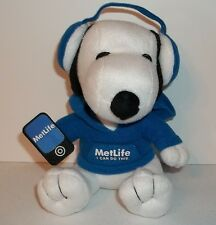 "New MetLife Promo Tech Snoopy Stuffed Promotional Toy 6"" Sitting 2013 Plush"