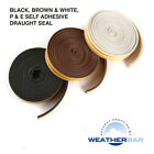 Weatherbar Draft Draught Excluding Rubber Seal, E Shape, Self Adhesive, 5M Roll