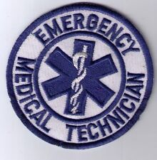 EMT EMERGENCY MEDICAL TECHNICIAN PATCH  IRON ON OR SEW ON