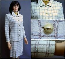 STUNNING ST.JOHN COLLECTION KNIT 2PC.SUIT,JACKET&SKIRT,OFF-WHITE,SZ12,CHIC!