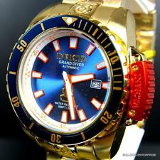 Invicta Grand Diver Scuba Blue 18kt Gold Plated Steel 48mm Automatic Watch New