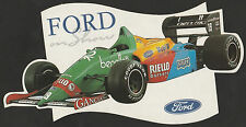 1989 BENETTON FORD B189 'FORD ON SHOW' F1 GP ORIGINAL PERIOD STICKER AUFKLlEBER