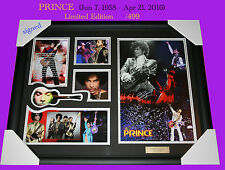 Latest of PRINCE music memorabilia signed and framed, limited edition to 499 COA