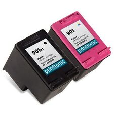 2 pk compatible for HP 901 Ink Cartridge Combo Pack CC653AN CC656AN