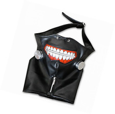1PCS Cosplay Tokyo Ghoul Kaneki Ken Adjustable Zipper PU Leather Mask Halloween