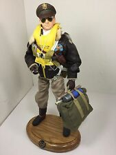 1/6 DRAGON US 8TH AIR FORCE B-17 PILOT CAPT+OAK BASE&PARACHUTE BBI DID 21st WW2