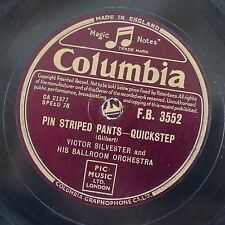 78rpm VICTOR SYLVESTER pin striped pants / i can drean can`t i