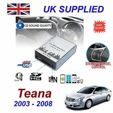 NISSAN TEANA MP3 USB SD CD AUX Ingresso Adattatore Audio Digital CD Changer modulo