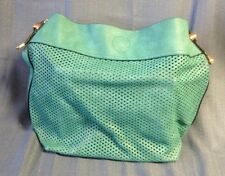 Seafoam Color Perforated Leather Ladies Hobo Bag