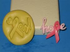 Breast Cancer Awareness Ribbon Hope Flexible Silicone Push Mold Polymer A181