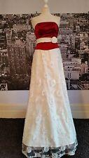 Rely Ardern Vestito Con Perline avorio-rosso-dimensioni 10 Matrimonio,Ballo