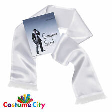 Roaring 20s 30s White Gangster Scarf 1920s 1930s Fancy Dress Costume Accessory