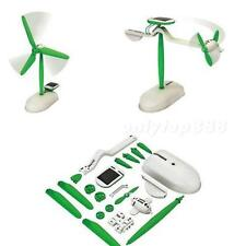 6 in 1 Solar DIY Educational Kit Toy Boat Fan Car Robot Windmill Puppy OT8G