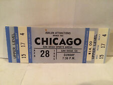 Chicago Concert Ticket Stub 4-28-1985 San Diego