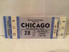 Chicago Concert Ticket Stub 4-28-1985 San Diego